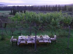 La Torretta 42 cena im Garten