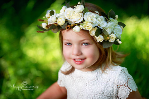 Girl flowery portrait