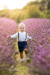 portrait of a boy in the lavender field
