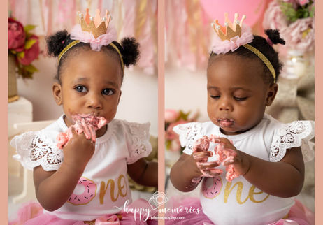 Twin girls cake smash