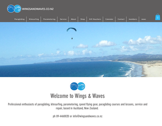 NEW website for Wings & Waves