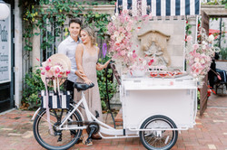 Champagne Cart & Flower Swag
