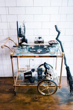 Spooky Cocktail Cart