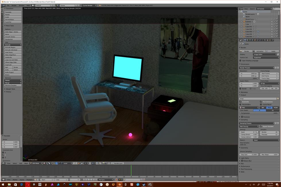 Blender Lighting and Texture test