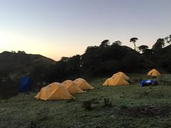 Camp site during trek