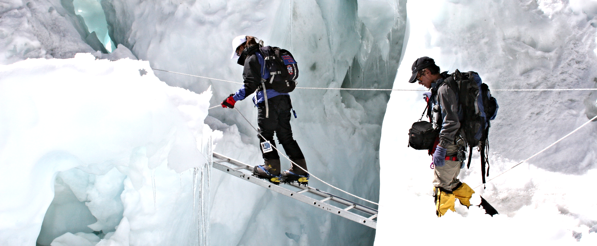 Crossing the Khumbu Ice Fall
