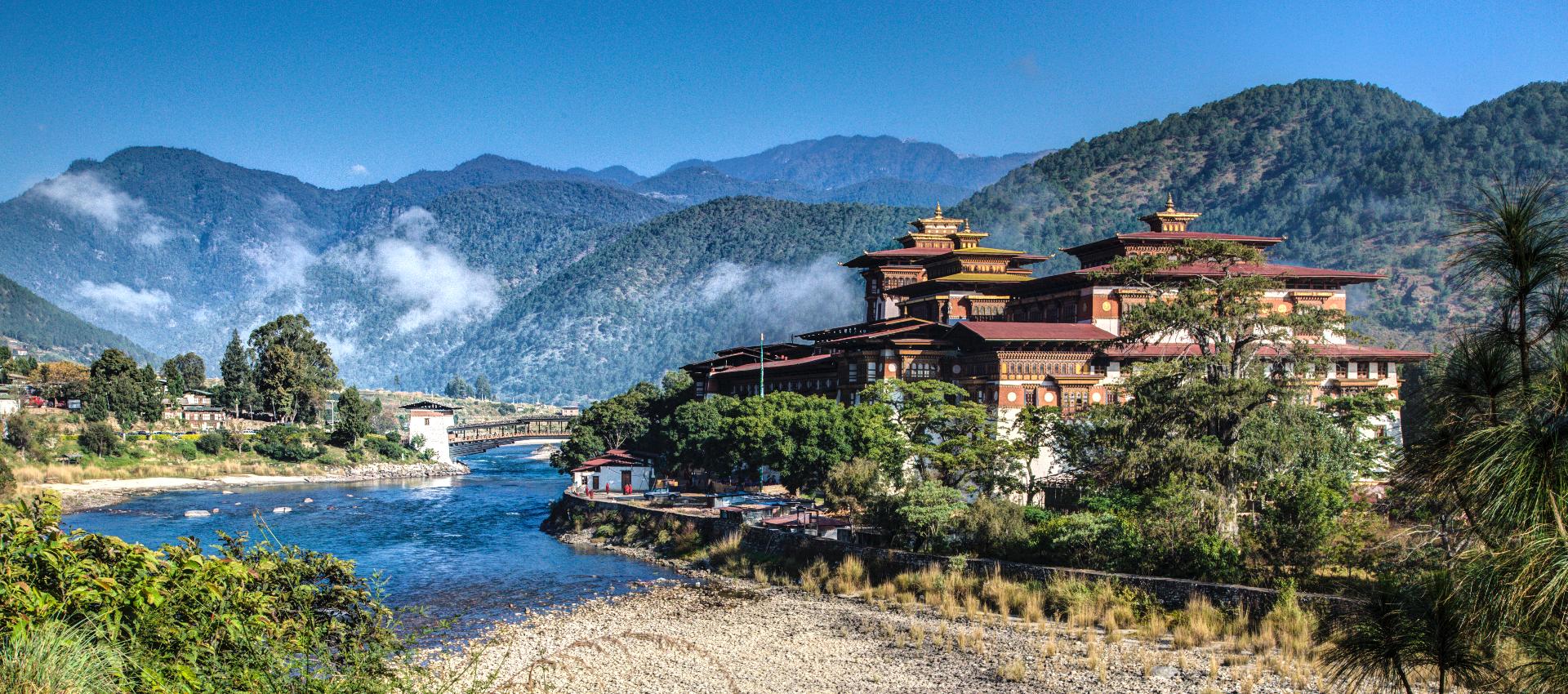 Punakha Monastery in Bhutan