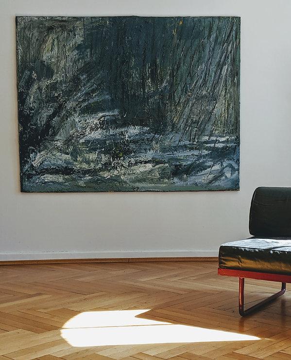 Kunstsammler, Raumansicht mit Gemälde