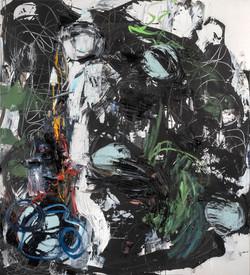 Tanz mit Wolken 2013,Öl/L. 210x190cm