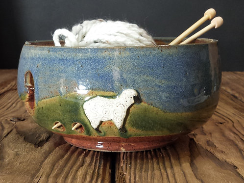 Sheep yarn bowl
