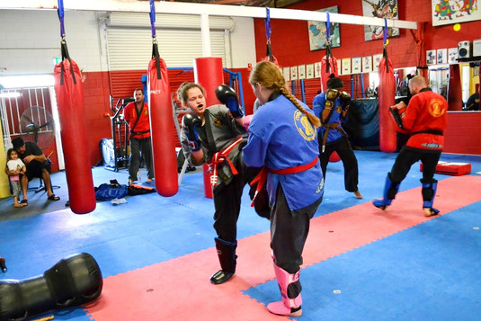Girls Sparring Martial Arts