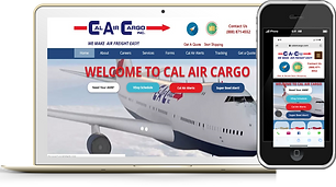 Cal Air Cargo Phone and Desktop Wix eknl