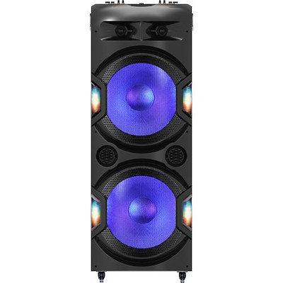 "Dual 15"" 6,000 Watt Bluetooth PA System With Disco Ball"