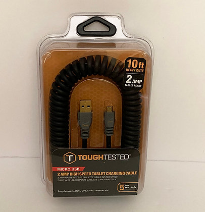 Tough Tested 10 Foot 10ft 2 Amp Micro USB High Speed Charging Cable
