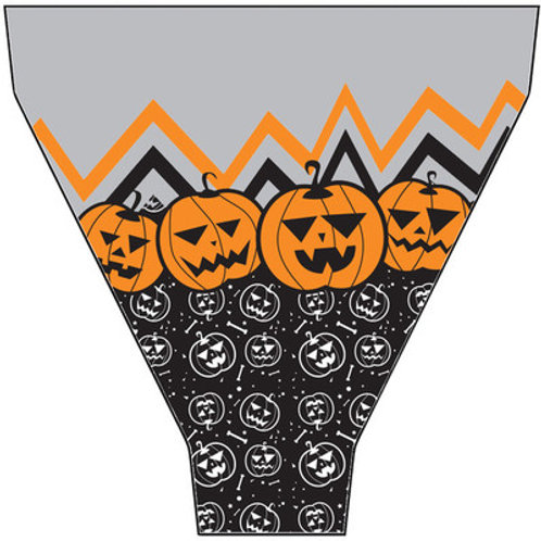 "Flora Pack Halloween Pumpkin Printed Sleeve- 14"" and 17"""