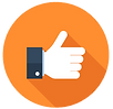 Social Media Optimization Icon Orange.pn
