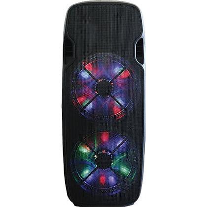 "Dual 15"" 6000 Watt Bluetooth PA Speaker With LED Lights"