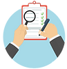 Checklist Magnifyer glass icon.png