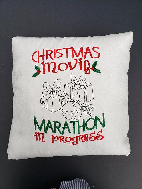 Christmas Movie Marathon Pillow