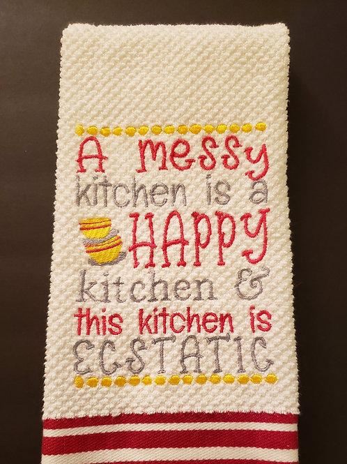 Messy Happy Kitchen Towel