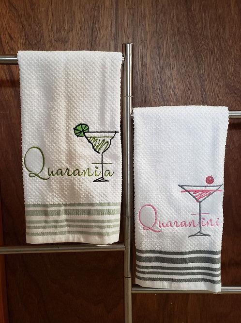 Quarantine Cocktails towels