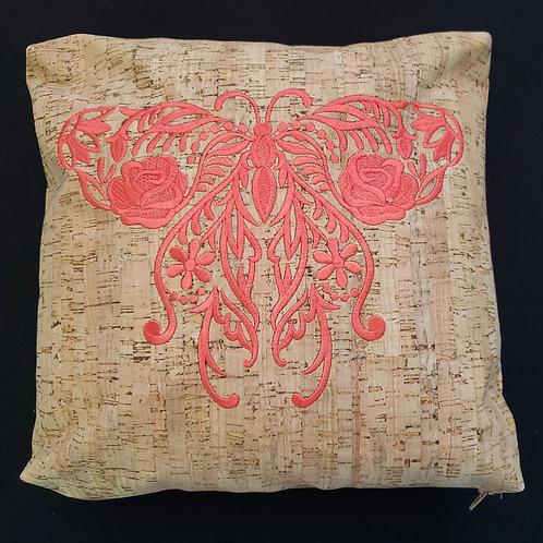Thread textured Butterfly Pillow