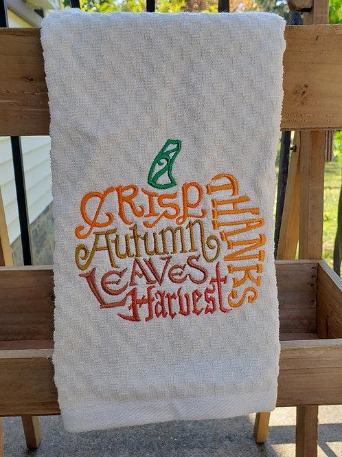 Wordy Pumpkin Towel