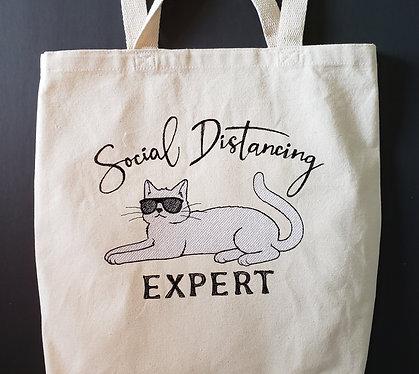 Social Distancing Expert Totebag