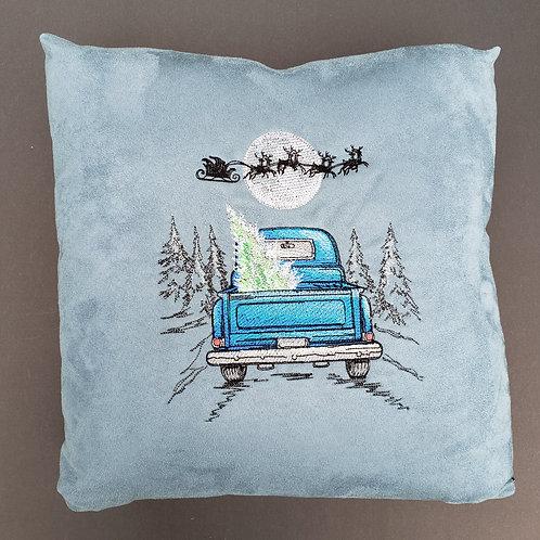 Santa's Flight Pillow