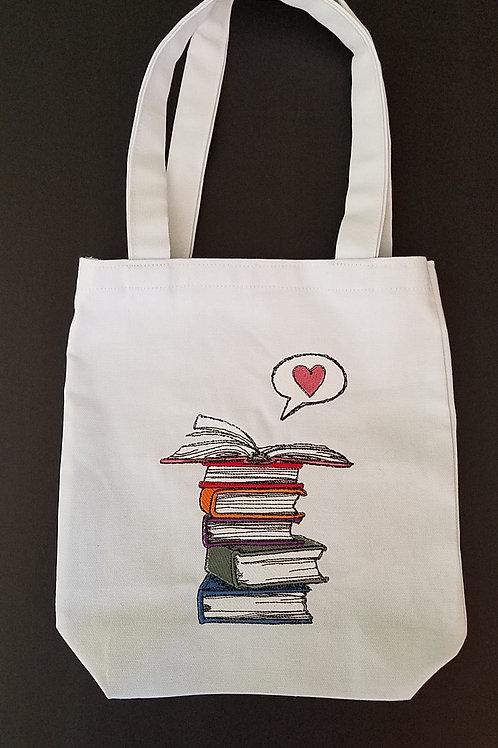 Love Story Book Bag
