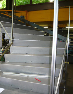 Fabrikation Stahltreppe