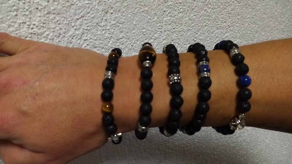Bracelet HOMME - Pierres minérales