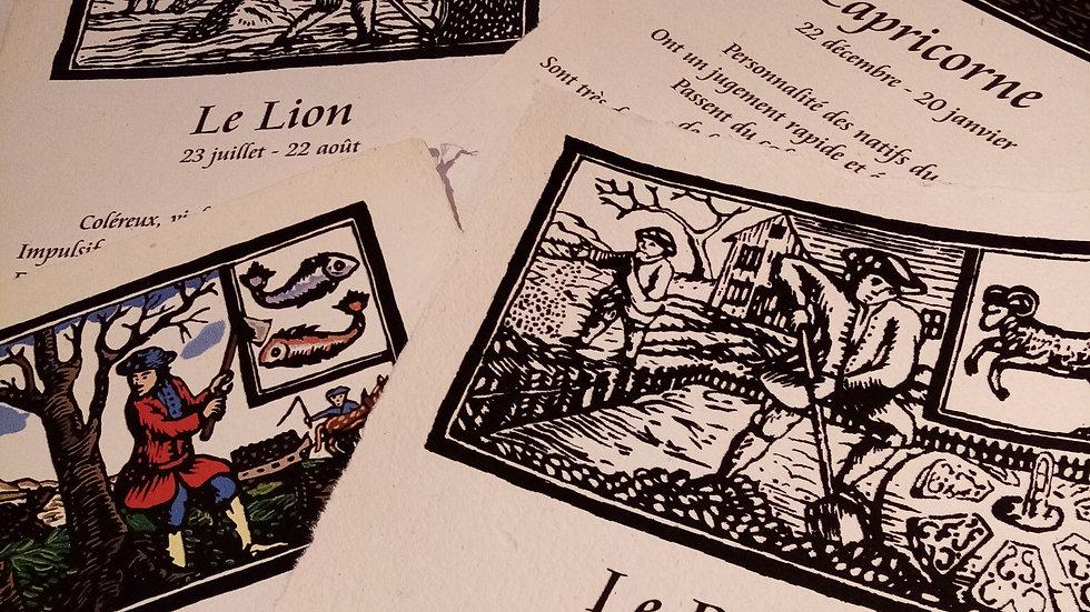Zodiaque sur Papier artisanal