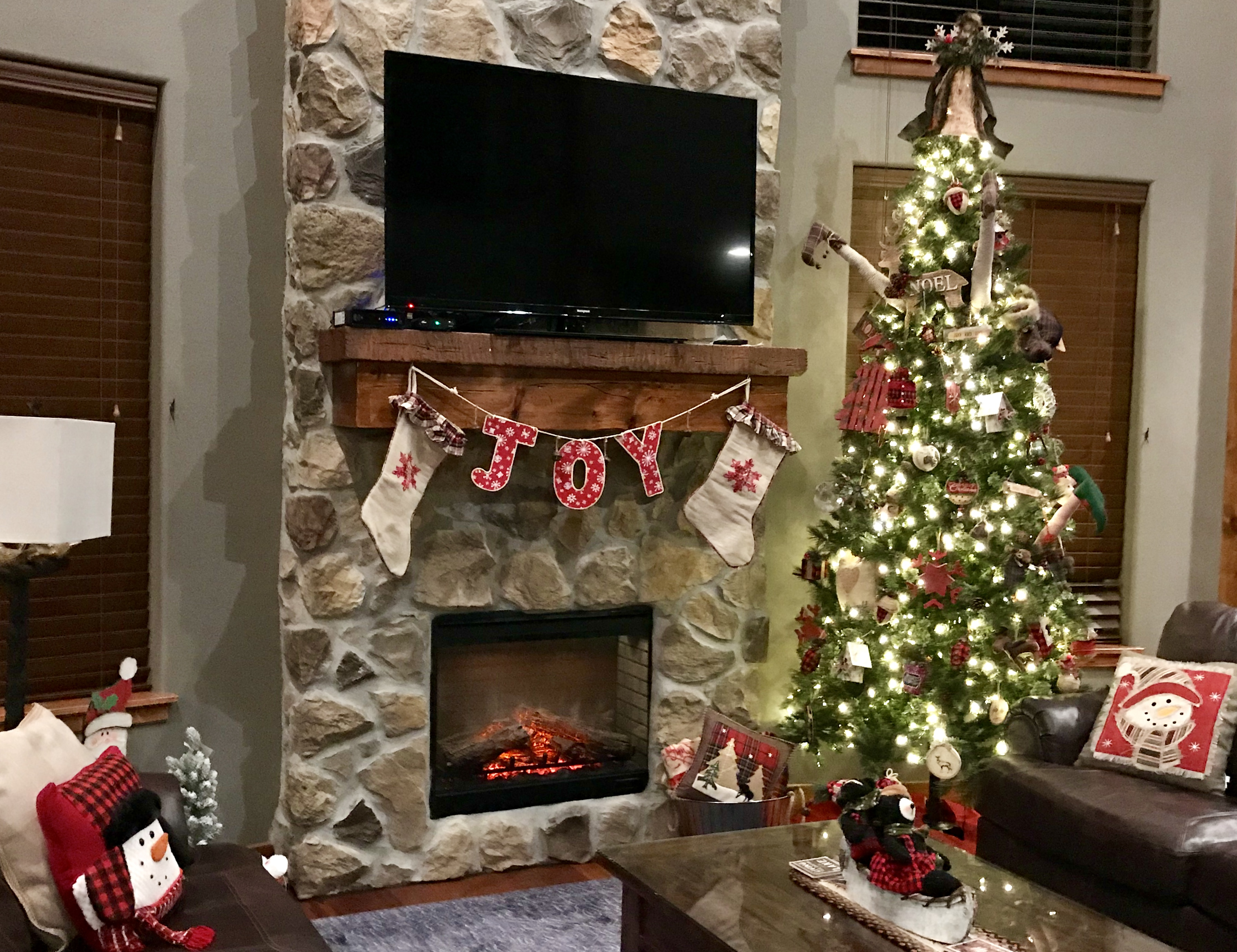 Decorated beautifully for Christmas