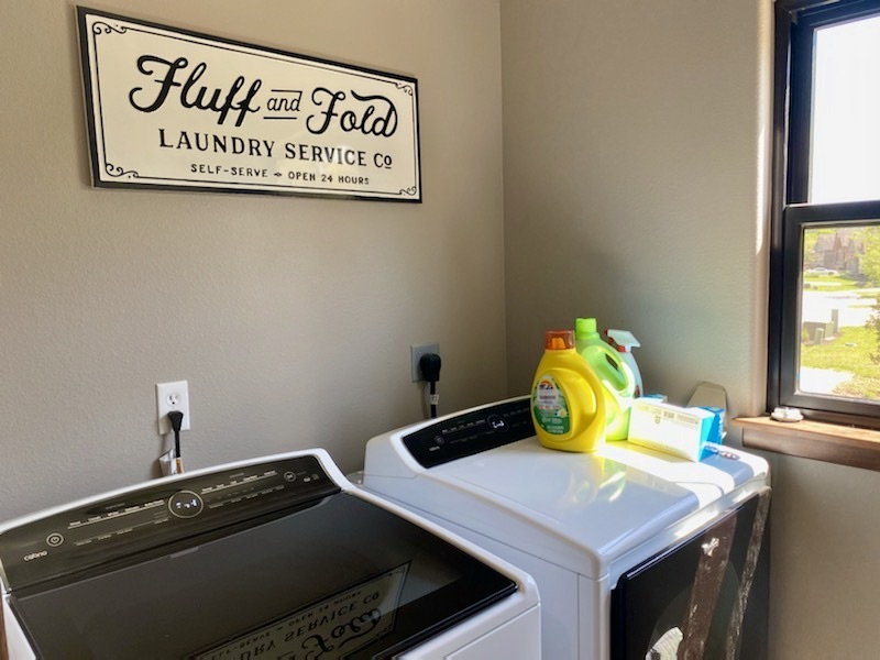 Laundry room w/large capacity washer and