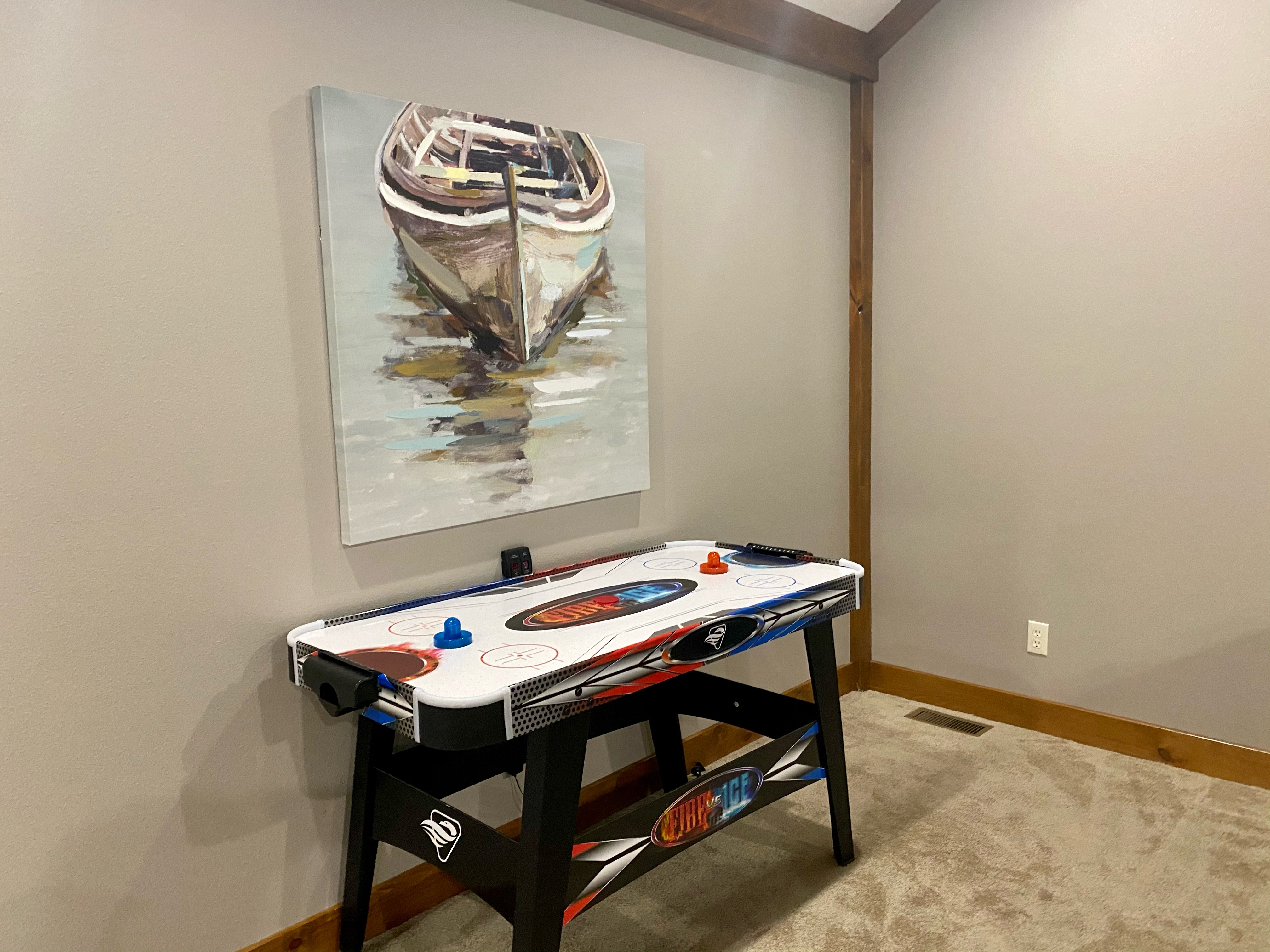Upper Level Loft Air Hockey
