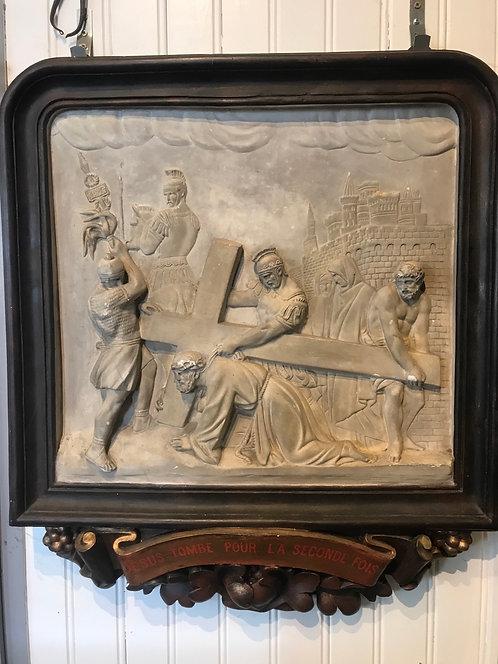Chemin de croix en plâtre église