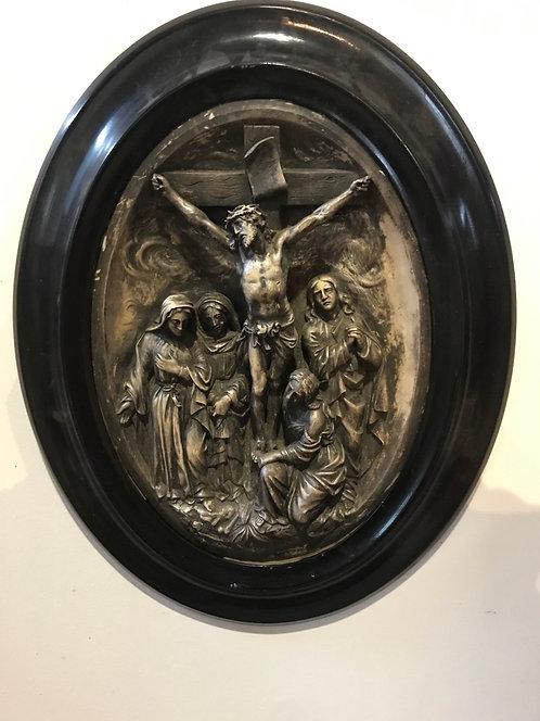 Médaillon christ en plâtre napoléon lll