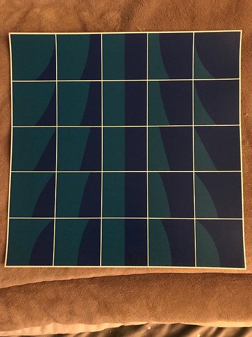 Gravure Serge Candolfi 1970 38x38 cm
