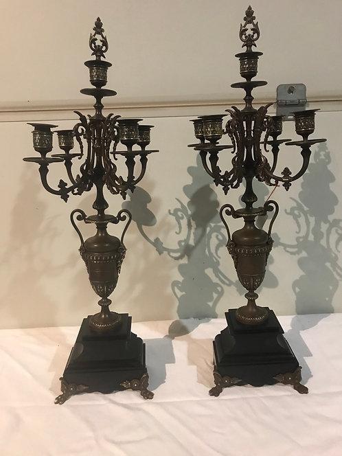 Paire de chandeliers Napoléon lll ref 3350