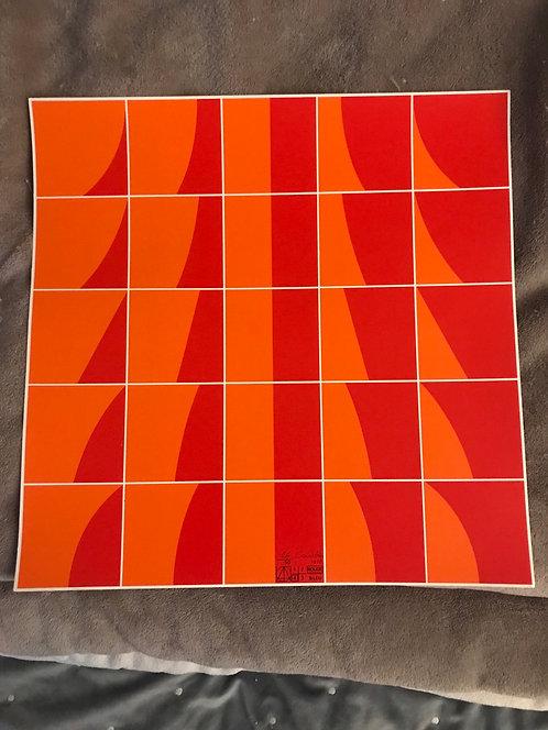 Gravure Serge Candolfi 1970  50 exemplaires 38x38