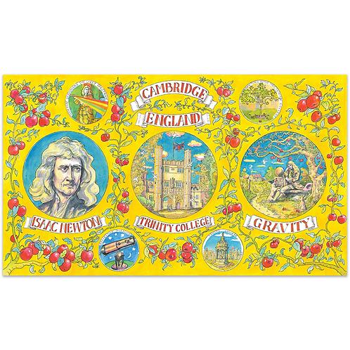 Isaac Newton Full Colour Print