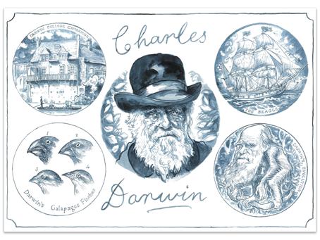 New A3 print of Charles Darwin