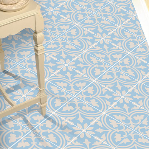 floor home makeove rideas - Turquoise Floor Tile
