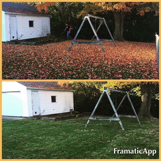 Leaf cleanup! #showusyourstripes #daytonohio #lawncare #lawn #lawnmaintenance #mowing #lawnservice #