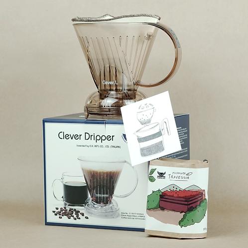 Combo • Clever (G) (Suporte + Filtro + Café)
