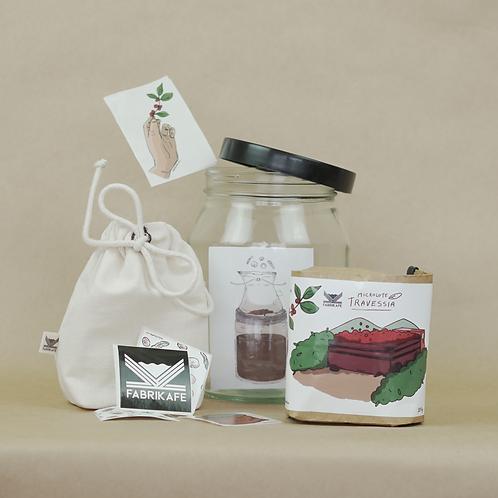 Combo • Cold Brew (Mini Bag + Recipiente + Café + Encontro Online)