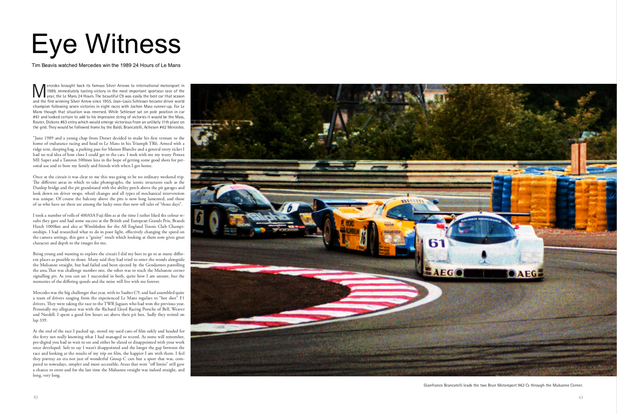 Eye Witness. The 1989 Le Mans 24 Hours