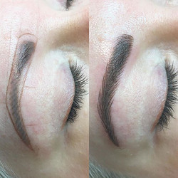 Correction with microblading and shading #microblading #utahbeauty #eyebrows