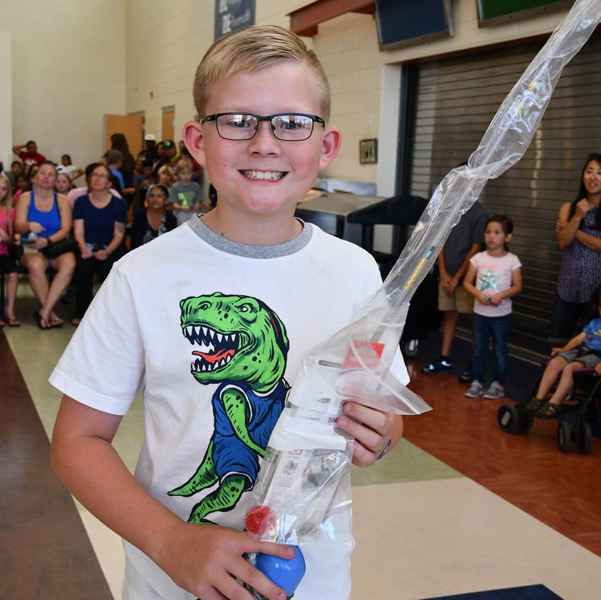 Winner of Fishing Pole & Tackle Bag